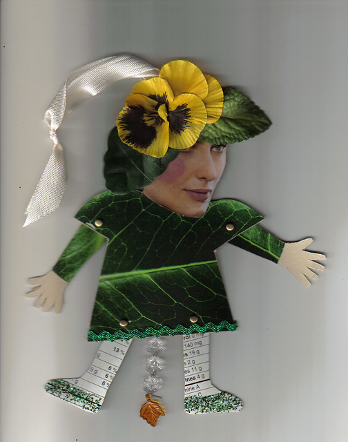 Green Jumping Jackie paperdoll