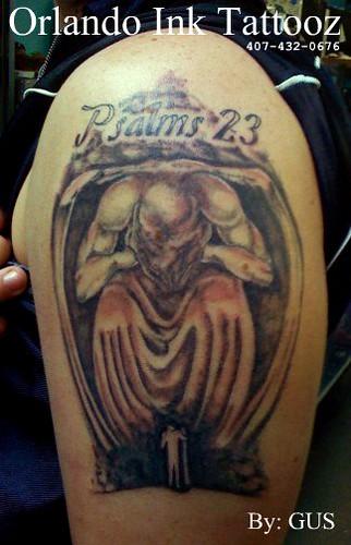 john's tattoo. psalms 23