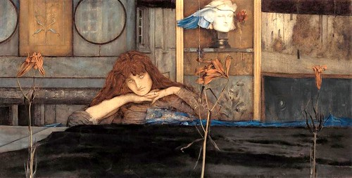 """I lock the door upon myself"", Fernand Khnopff"
