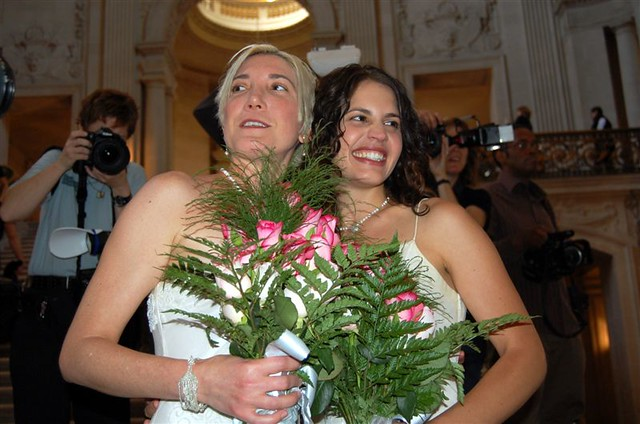 Same Sex Marriage blushing brides