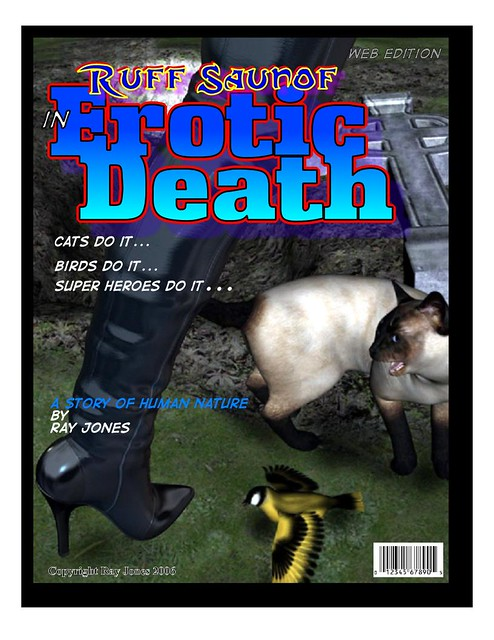 erotic death-Cover. Comic book cover