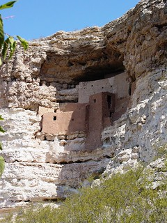 Side View of Montezuma Castle National Monument, Arizona