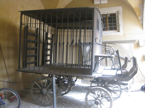 The child catcher's wagon from Chitty Chitty Bang Bang