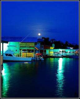 Moonrise over the dock