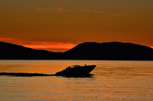 ocean sunset red summer vacation orange nature water silhouette speed landscape outdoors boat washington nikon northwest dusk speedboat sound pacificnorthwest wa orcasisland sanjuanislands washingtonstate pnw puget orcas d300 moterboat supershot worldbest anawesomeshot skyascanvas