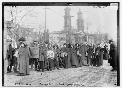 Rosalie Jones, Ida Craft - suffrage hikers (LOC)