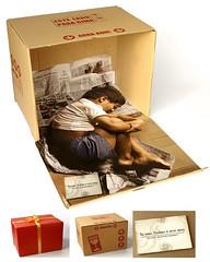 gift, brown, box, brand,