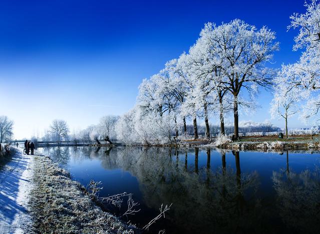 Winter Panorama - Kromme Rijn, Amelisweerd, Rhijnauwen, Utrecht