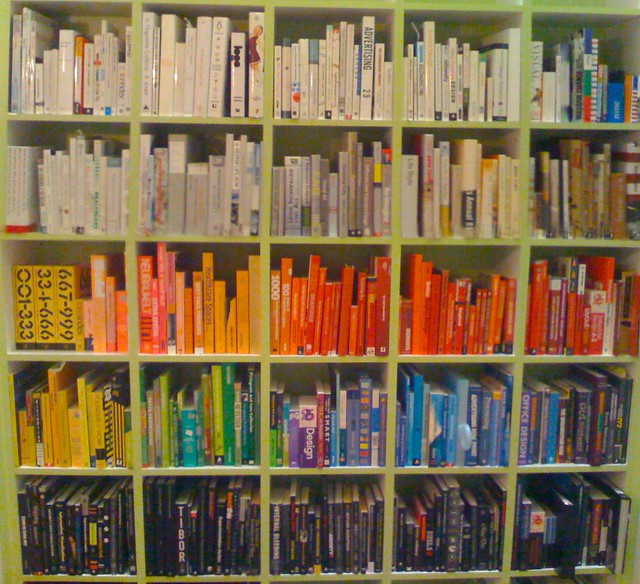 book books bookshelf colours - photo #2