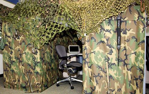 Office humor army style cubicle flickr photo sharing for Army decoration ideas