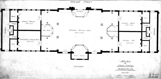 Augusta Union Station Ground Floor Plan, 1918 | Flickr ...