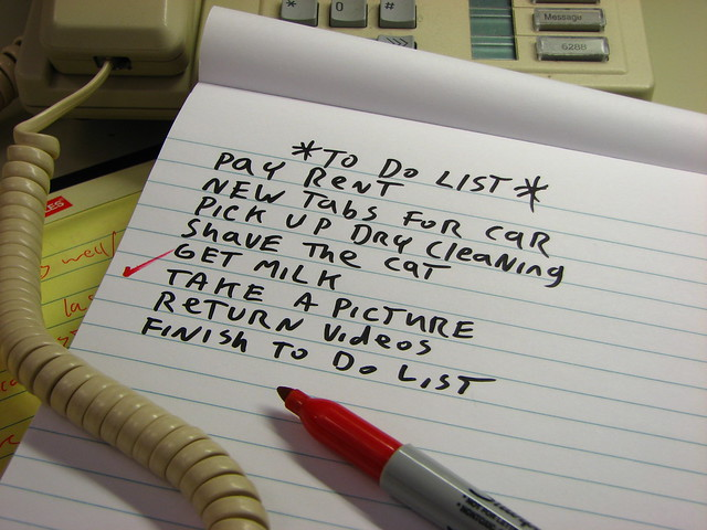 Everyday to-do lists won't cut it when your dealing with planing a good few months of your life.