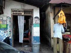 Super Kinyosi barber, Mombasa Old Town