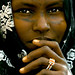 Afar Girl with scarifications on the face, Danakil, Ethiopia