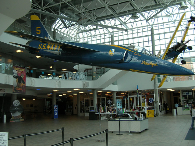 Lobby Of The Cradle Of Aviation Museum In Garden City New