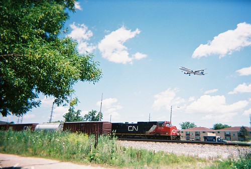 Train and Plane photographic meet. Schiller Park Illinois. July 2008. by Eddie from Chicago
