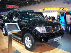 compact sport utility vehicle(0.0), off-roading(0.0), mitsubishi(0.0), automobile(1.0), automotive exterior(1.0), pickup truck(1.0), sport utility vehicle(1.0), wheel(1.0), vehicle(1.0), truck(1.0), auto show(1.0), nissan(1.0), bumper(1.0), nissan navara(1.0), land vehicle(1.0),
