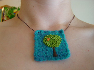 Dream Tree Felt Necklace