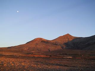 moon over fuerteventura