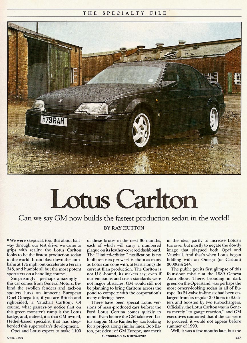 the archive vauxhall lotus carlton. Black Bedroom Furniture Sets. Home Design Ideas