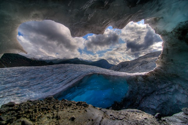 ice cave with a very nice view