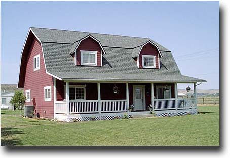gambrel roof house images