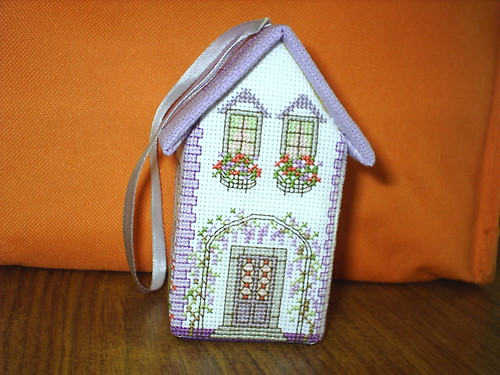 3D Cross Stitch House-Lavender(SideA)