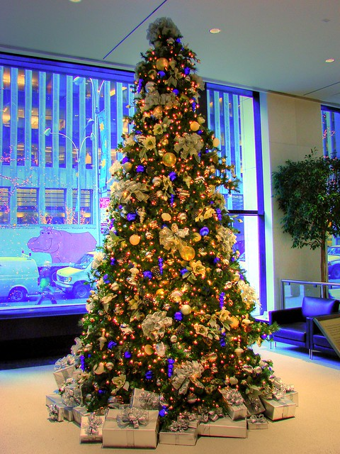 my office christmas tree hdr flickr photo sharing