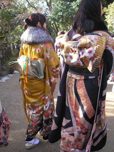Kimonos, Nara, 2nd January 2009