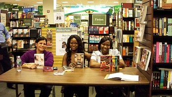 Renee and Abiola at Barnes & Noble Booksigning in Brooklyn.