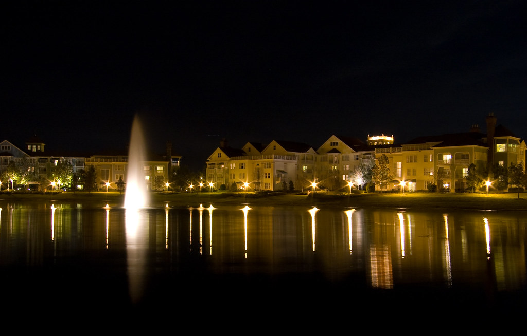 Disney's Saratoga Springs at Night