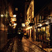 Paris Street at Night by rick koconis