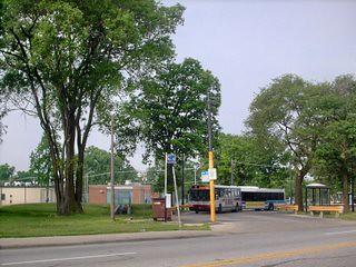 The CTA Route # 77 Belmont Avenue west terminal at Belmont and Cumberland Avenues. River Grove Illinois. June 2007. by Eddie from Chicago