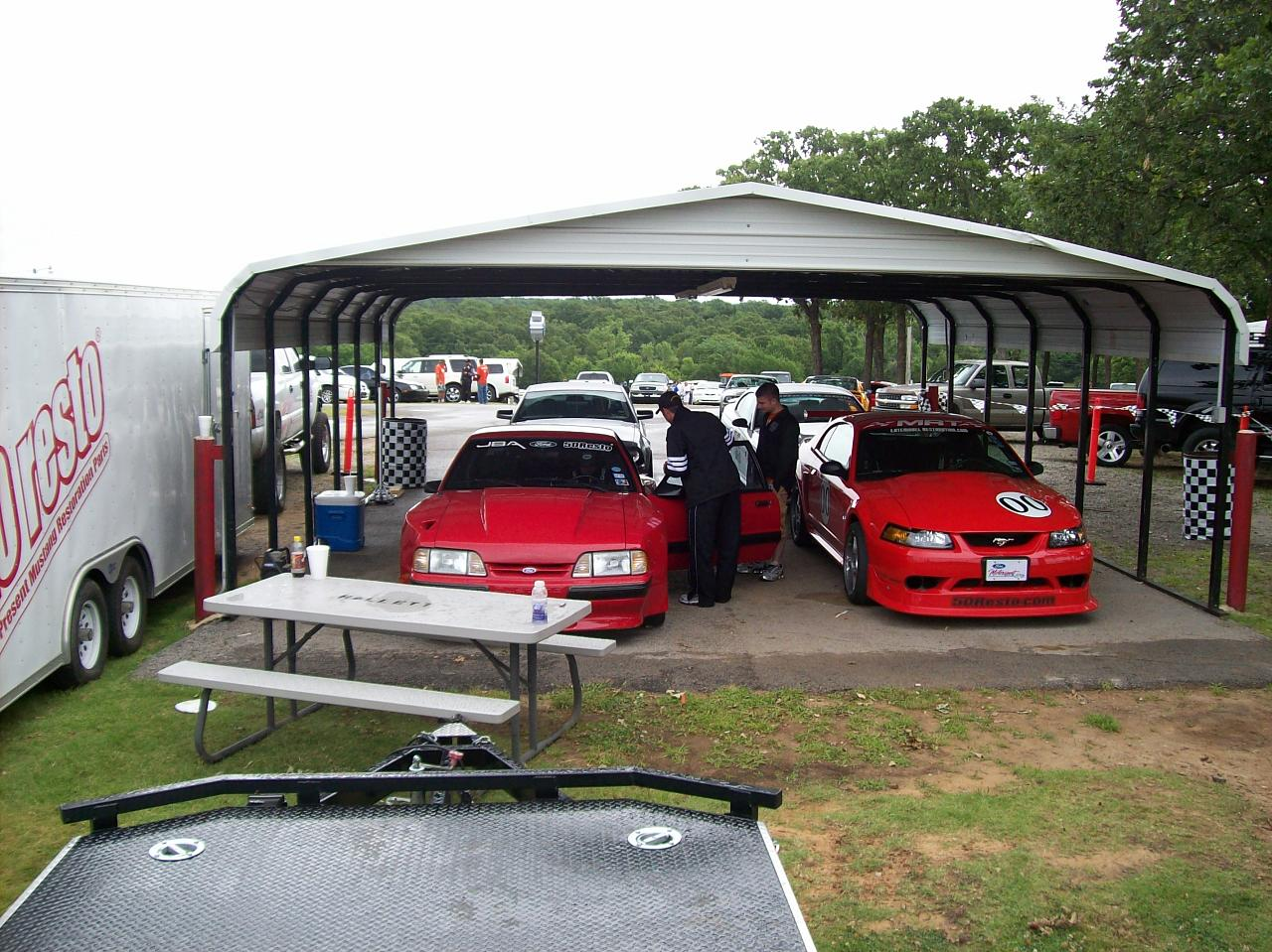 2000 Cobra R and JBA Dominator at 2008 Mid-America Ford & Team Shelby Nationals