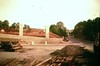 Stapleton, Bell Hill - Bridge Farm entrance, new wall, M32 piers being built - 1960s