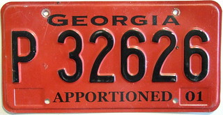GEORGIA 2001 APPORTIONED plate