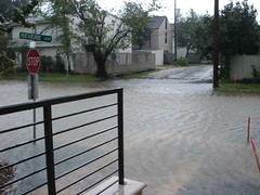 Our street floods after Hurricane Ike by mattislostintv