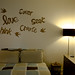 cardboard art above the bed by jenschuetz