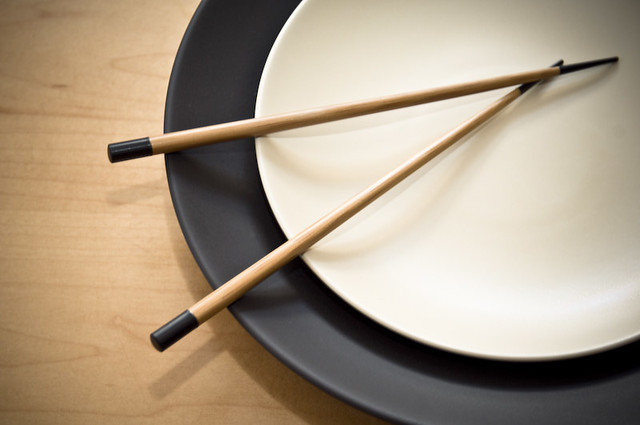 Chinese Plate with Chopsticks (b)