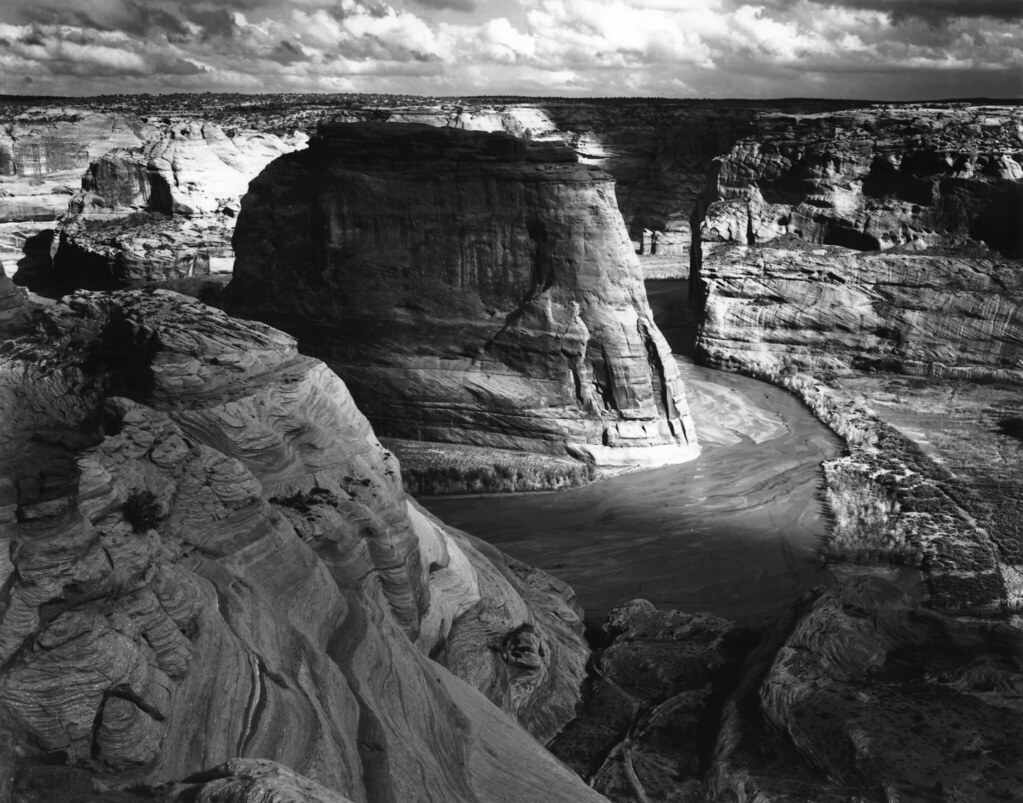 Ansel adams canyon de chelly view of valley from for Ansel adams the mural project