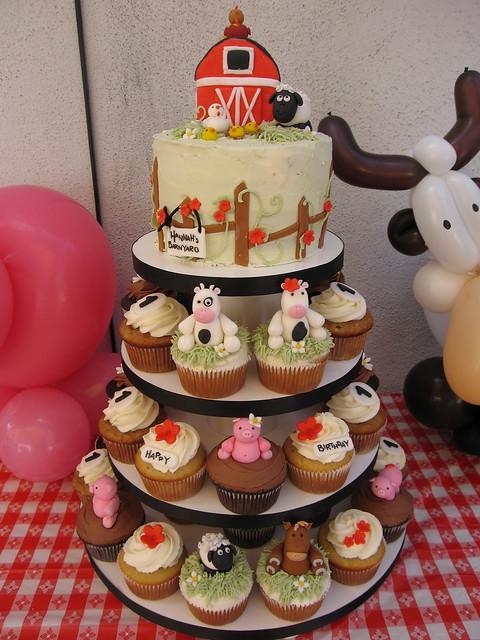 Barnyard Cupcake Tower Flickr Photo Sharing