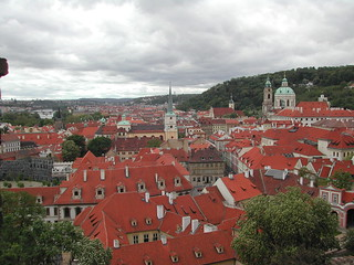 The red roofs of Prague