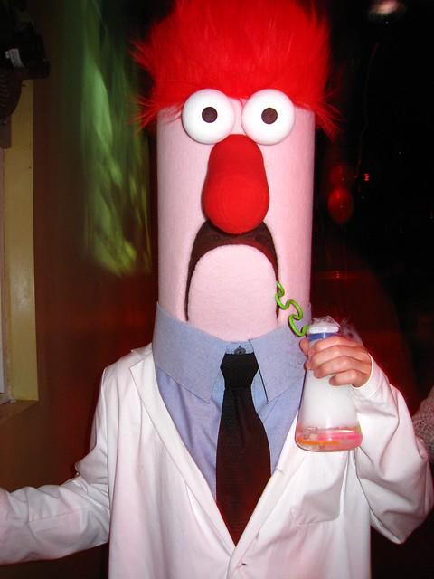 Beaker Costume Halloween 2008