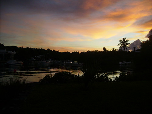 ocean sunset sea sky water clouds backyard bermuda