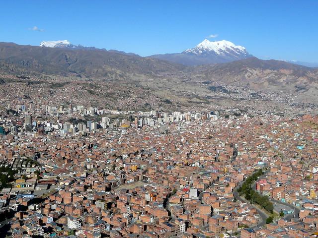 La Paz et l'Illimani