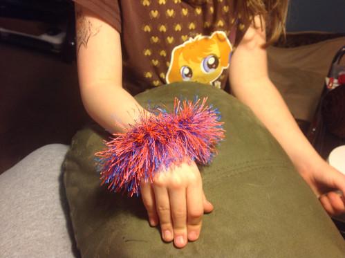BSU Fuzzy Fun Fur Bracelet