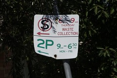 Parking restrictions for bin night 'No standing 6am to 9am'