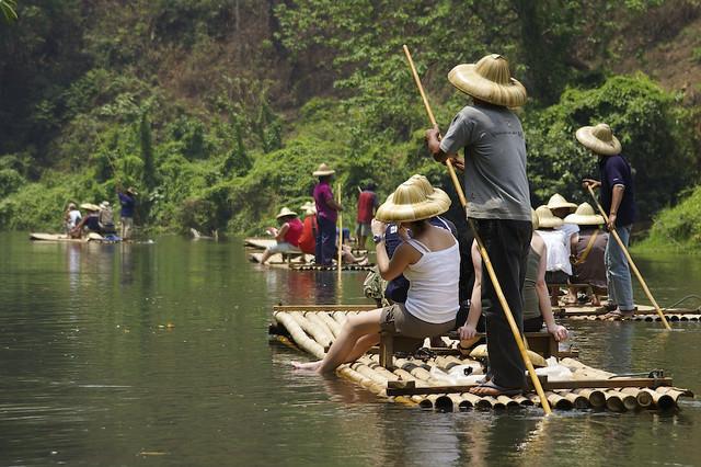 Thailand -- Bamboo rafting