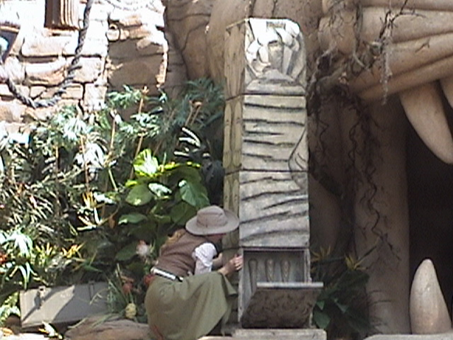 Indiana Jones™ and the Secret of the Stone Tiger Revealed!, Aladdin's Oasis, Adventureland, Disneyland®, Anaheim, California, 2008.05.26 15:24