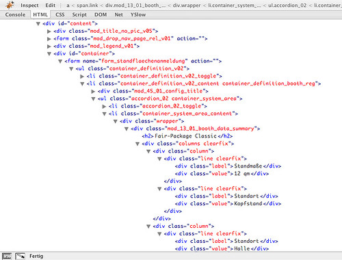 Extreme HTML Verschachteling